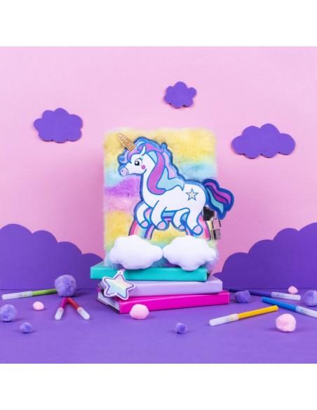 Diario segreto di peluche 3D Unicorn rainbow vista emozionale