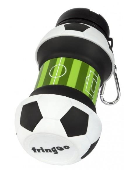 borraccia in silicone pieghevole football fringoo vista appoggio