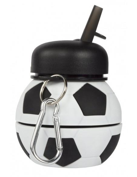 borraccia in silicone pieghevole football fringoo vista dimensione compatta