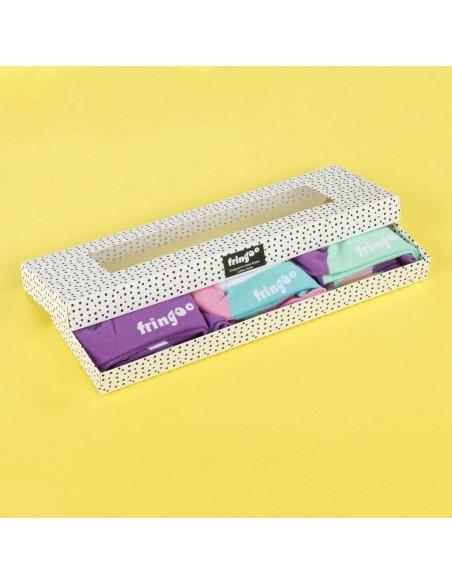 calzini gift box unicorn theme fringoo vista confezione aperta