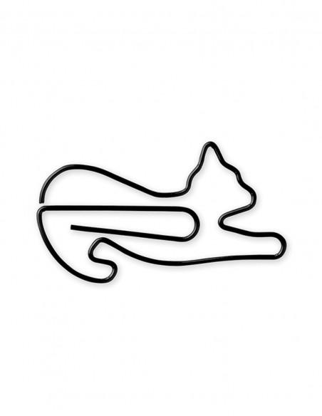 D-Clips Mini Cat Stretching graffette in metallo vista graffetta singola