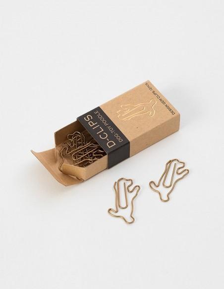 D-Clips Mini Dog Toy Poodle graffette in metallo vista emozionale