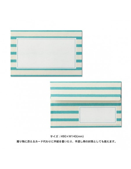 set carta da lettere midori colorful vista busta 5