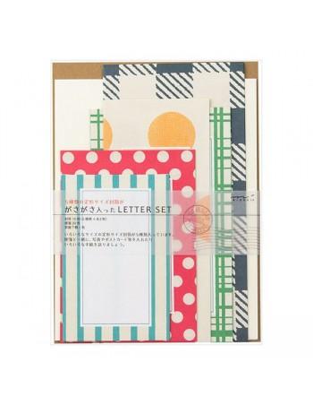 set carta da lettere midori colorful vista confezione