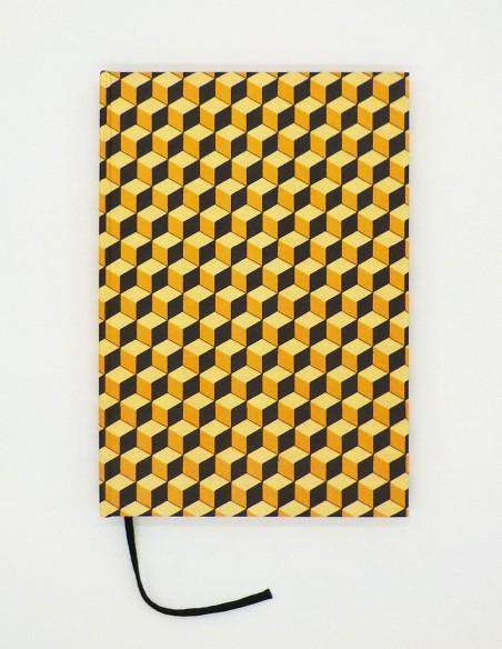 Quaderno cartonato cubi giallo nero Grafiche Tassotti