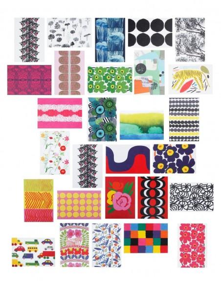 Marimekko 100 postcards vista d'insieme cartoline mix