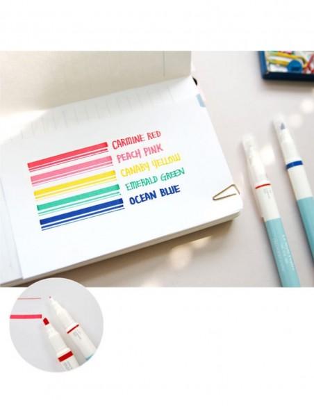 Set evidenziatori 5 colori doppia punta Deco Iconic prova colori