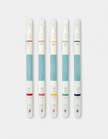 Set evidenziatori 5 colori doppia punta Deco Iconic