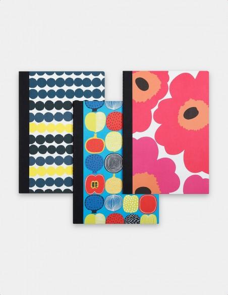 Collezione quaderni Marimekko vista set tre quaderni