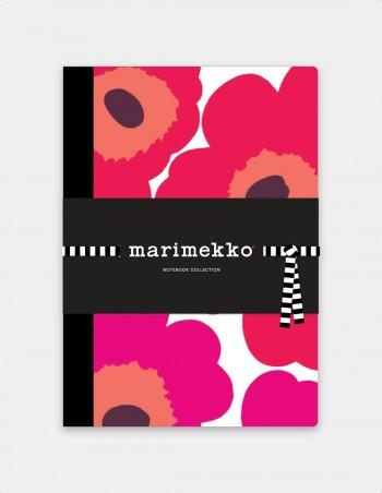 Collezione quaderni Marimekko vista frontale con nastrino