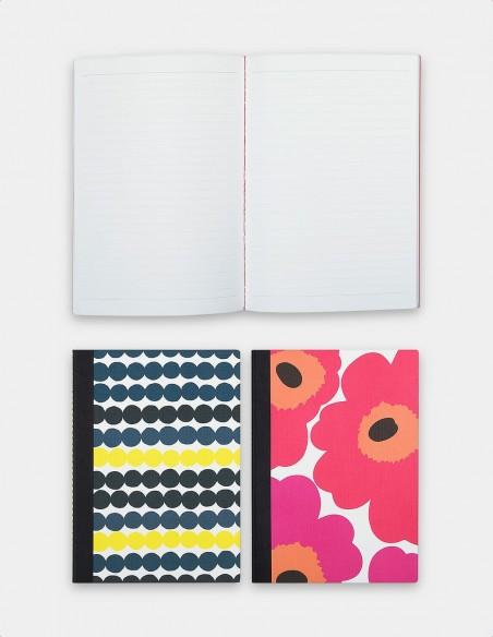 Collezione quaderni Marimekko vista frontale quaderno aperto