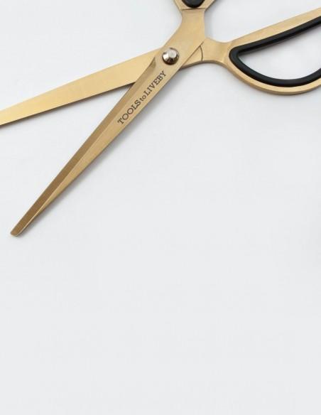 """Forbici 8"""" Tools to Liveby Gold in acciaio inossidabile dettaglio"""