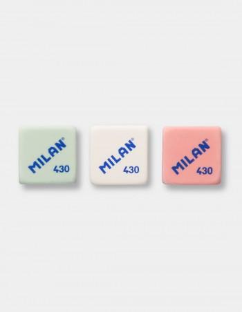 Gomma quadrata Milan 430 colore menta bianco rosa