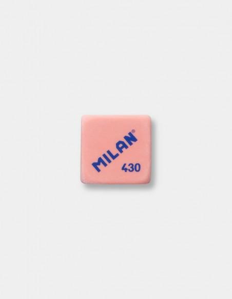 Gomma quadrata Milan 430 colore rosa