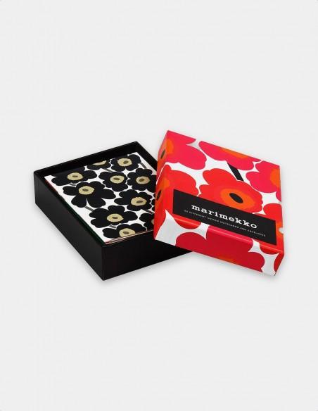 Marimekko Notes biglietti da visita con buste cofanetto aperto