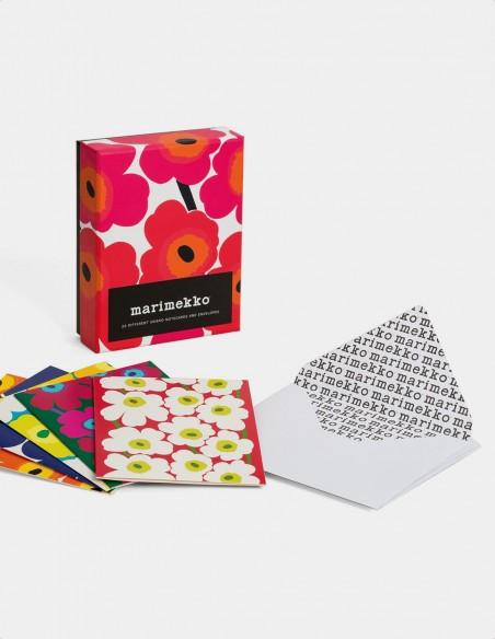 Marimekko Notes biglietti da visita con buste vista dei biglietti con le buste