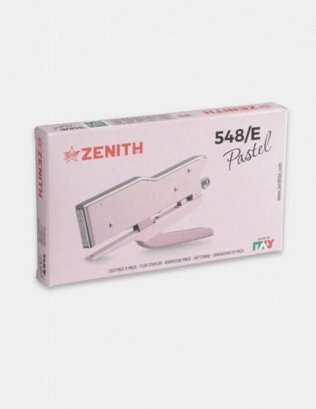 Cucitrice a pinza Zenith 548/E Pastel rosa confezione