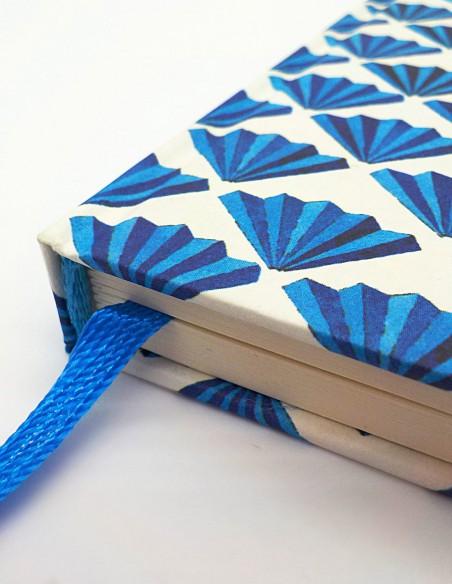 Taccuino archetti azzurri Grafiche Tassotti dettaglio dorso