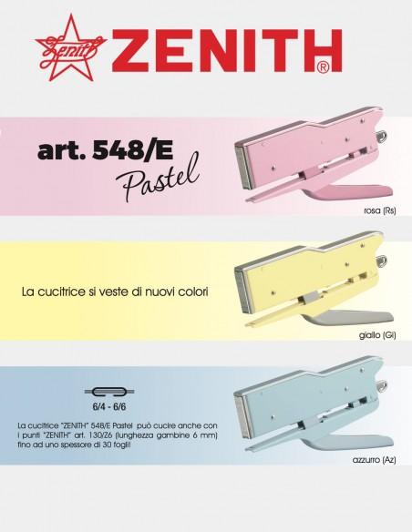 Cucitrice a pinza Zenith 548/E Pastel volantino pubblicitario