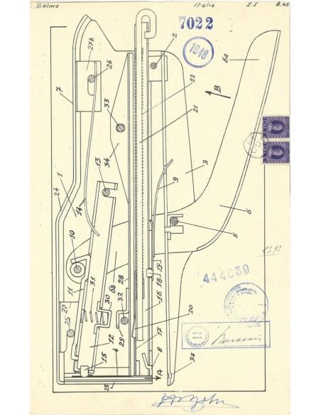 Cucitrice a pinza Zenith 548 brevetto Balma 1948