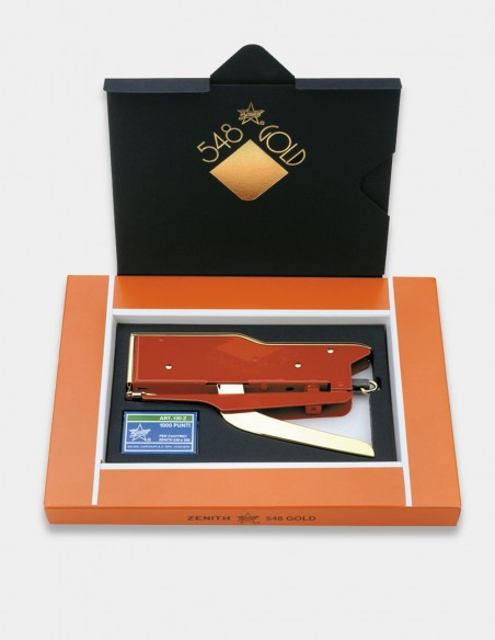 Cucitrice a pinza Zenith 548 Gold rosso con confezione regalo
