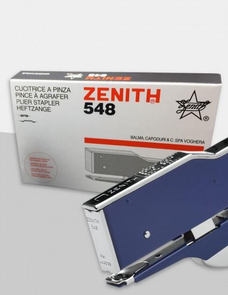 Cucitrice a pinza Zenith 548 blu con confezione
