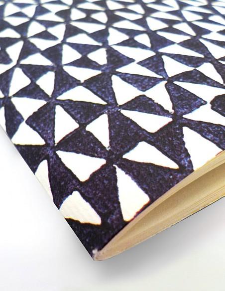 Quaderno a righe Remondini triangoli Grafiche Tassotti dettaglio dorso