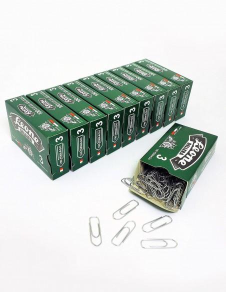 Fermagli Leone Dell'Era zincati misura n. 3 mm 28 confezioni