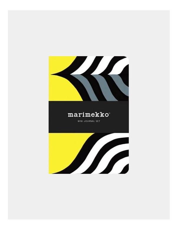 Set di quaderni Marimekko Mini Journal vista frontale con fascetta vista principale