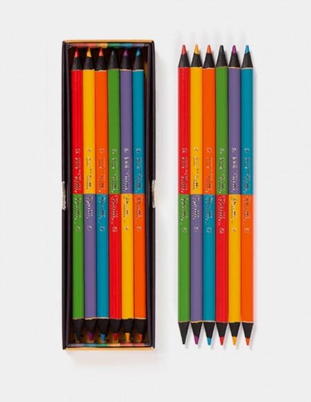 Set di matite colorate Louise Fili serie Tutti Frutti scatola con 12 matite