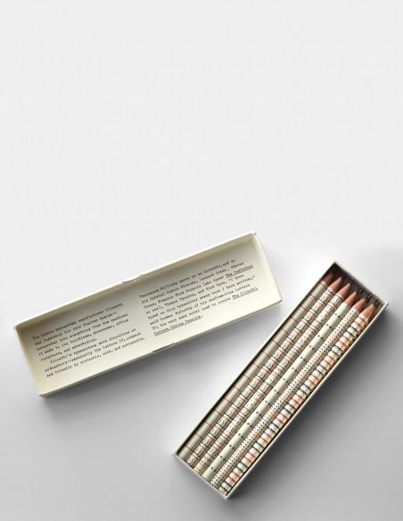 Set di matite Olivetti Pattern scatola aperta con coperchio girato