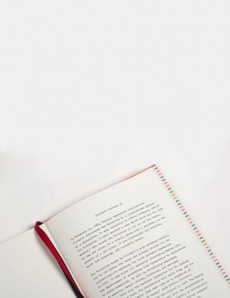 Quaderno Olivetti Pattern vista interna pagina cenni storici