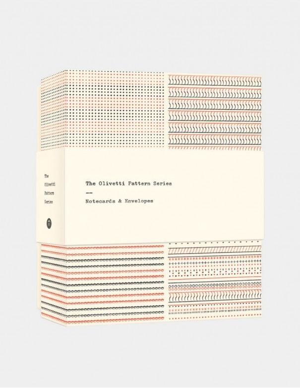 Biglietti Olivetti Pattern Series set di notecards cofanetto vista frontale