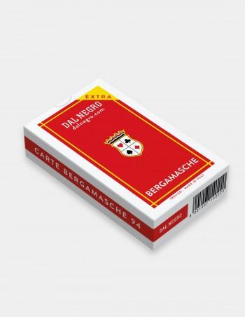 Carte da gioco regionali Bergamaseche Dal Negro con astuccio rosso