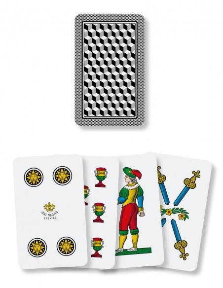 carte da gioco napoletane dal negro la sciuscetteria dorso e semi