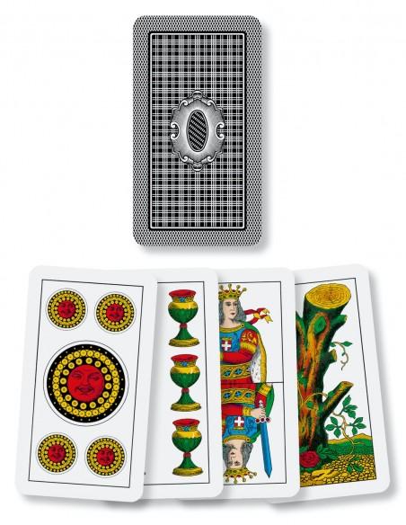 carte da gioco piacentine dal negro la sciuscetteria dorso e semi