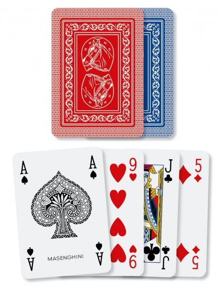 carte da gioco ramino cavallino masenghini la sciuscetteria dorso e semi