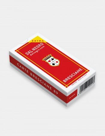 Carte da gioco regionali Beresciane Dal Negro con astuccio rosso