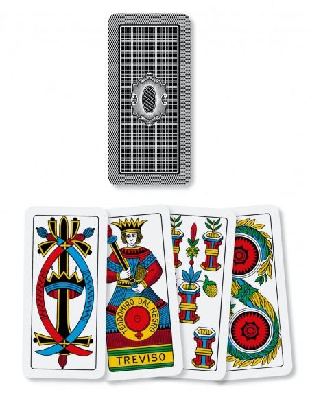 Carte da gioco regionali Beresciane Dal Negro dorso e semi