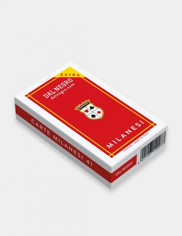 Carte da gioco regionali Milanesi Dal Negro con astuccio rosso