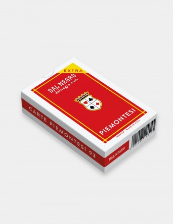 Carte da gioco regionali Piemontesi Dal Negro con astuccio rosso