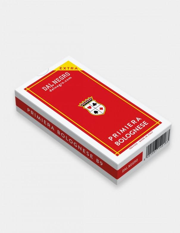 Carte da gioco regionali Primiera Bolognese Dal Negro con astuccio rosso
