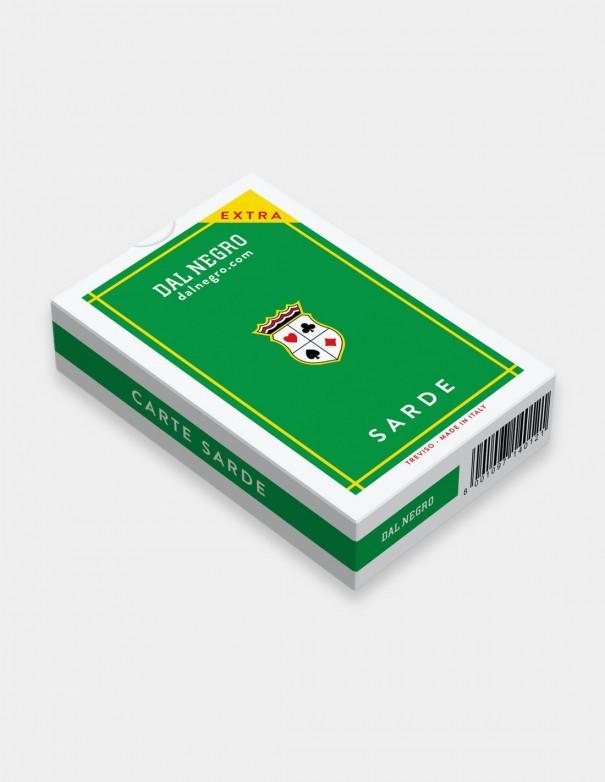 Carte da gioco regionali Sarde Dal Negro con cofanetto verde