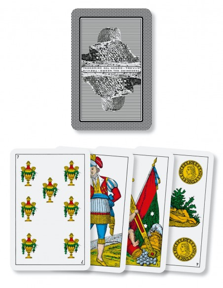 Carte da gioco regionali Sarde Dal Negro dorso e semi