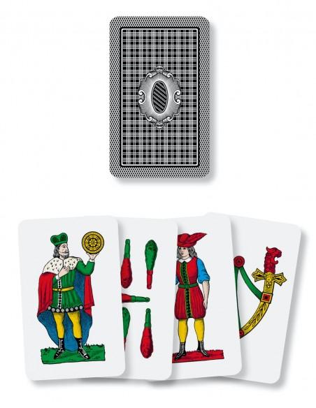 Carte da gioco regionali Siciliane Dal Negro dorso e semi