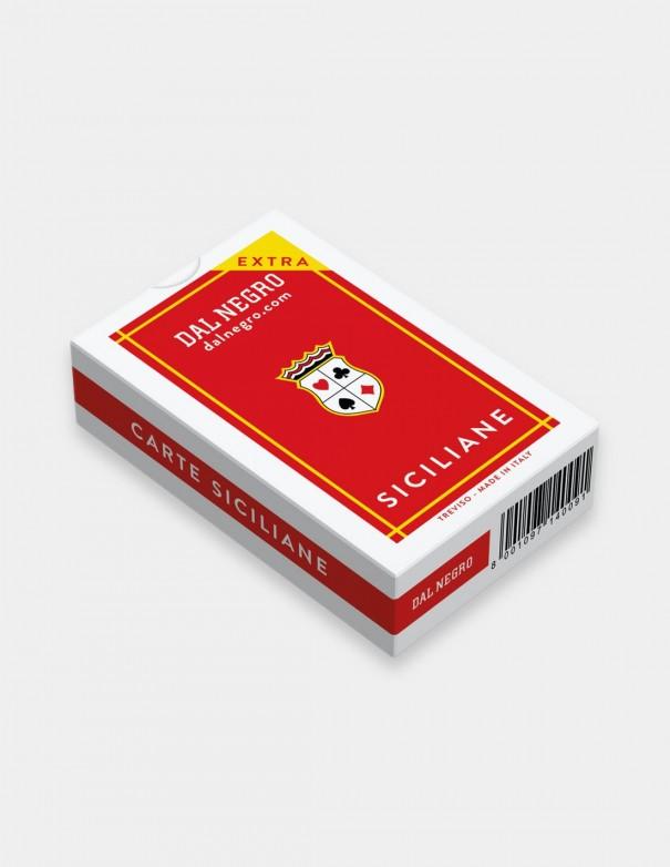 Carte da gioco regionali Siciliane Dal Negro con astuccio rosso