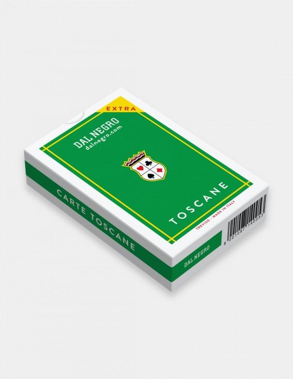 Carte da gioco regionali Toscane Dal Negro con stuccio verde