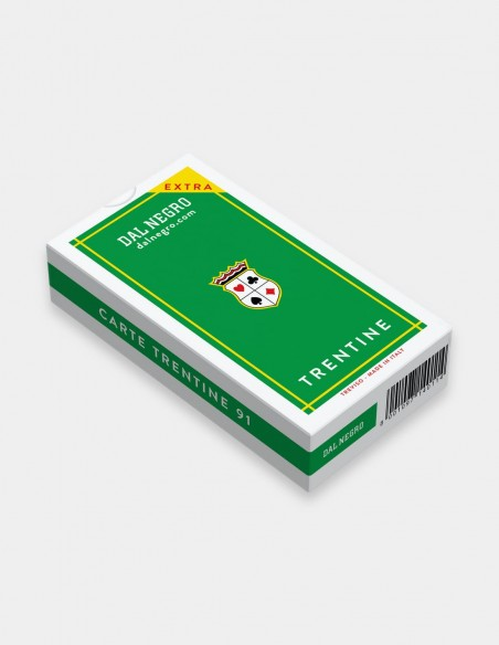 Carte da gioco regionali Trentine Dal Negro da 40 con astuccio verde