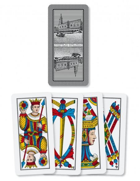 Carte da gioco regionali Trevisane Dal Negro da 40 dorso e semi