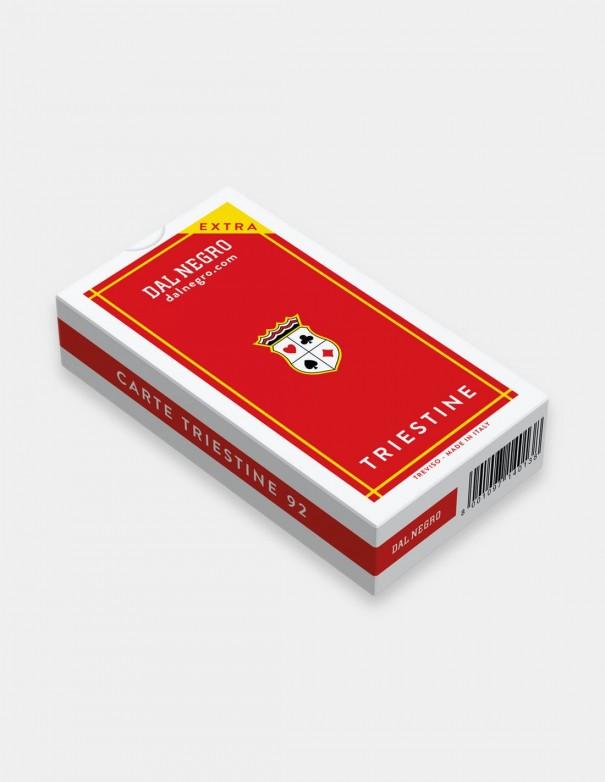 Carte da gioco regionali Triestine Dal Negro con astuccio rosso